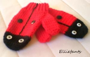 ladybird mitts
